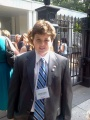Kinnan Hammond-Dowie poses complete with his White House credential for Kids' State Dinner. Photo credit: Sharyn Hammond